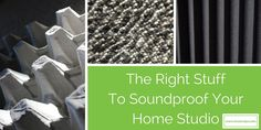 From carpet tiles to egg cartons, paper cups and hay, there is a science behind why some materials are better suited than others for sound treatment and soundproofing your home studio.