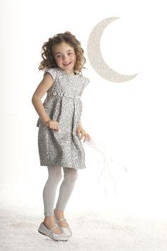 8cefb0d0b0e0b Biscotti Girls Silver Jacquard Snow Princess Cap Sleeve Dress Girls Dress  Shoes, Girls Party Dress