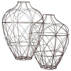 Wire vases