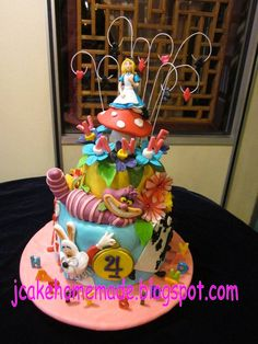 Happy 4th birthday Jyanne. Thanks Sim Ee for ordered.Free hand mold all the edible figurines. www.jcakehomemade.blogspot.com