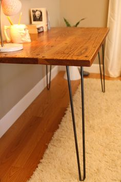 reclaimed wood, table (maybe for office desk?)