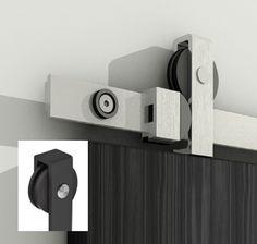Skyvedørsbeslag for tredør sort - Sikkerhet & Design