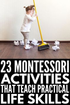 Helping Kids Grow: 23 Montessori Practical Life Activities W.-Helping Kids Grow: 23 Montessori Practical Life Activities We Love - Life Skills Activities, Activities For 2 Year Olds, Toddler Learning Activities, Montessori Activities, Infant Activities, Teaching Kids, Kids Learning, Montessori Materials, Indoor Activities