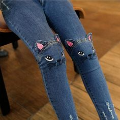 Girls Jeans 2017 Cute Cartoon Pattern Kids Pants Jeans Lovely Cat High Quality Children Baby Girl Pants Casual Trouse Thick Thin – Kid Shop Global – Kids & Baby Shop Online – baby & kids clothing, toys for baby & kid – – Kinder Baby Girl Jeans, Girls Jeans, Kids Girls, Baby Kids, 4 Kids, Toddler Girls, Baby Shop Online, Kids Pants, Toddler Pants