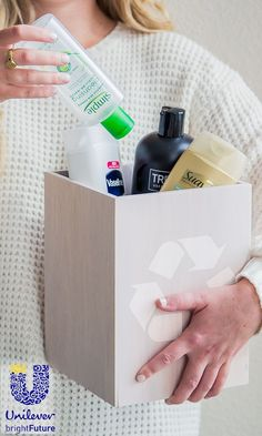 Shop smart and help the environment by buying recyclable plastic products (types 1, 2 and 5) like @UnileverUSA 's Dove Shampoo and Conditioner and St. Ives Body Lotions that come in rigid containers. #ReimagineThat #partner ==