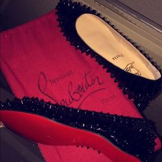 Christian Louboutin (Red Bottom) Flats Brand new never been worn Authentic Christian Louboutin flats. Still in box and comes with little red bags. Size 40 European it was supposed to run as a size 9 U.S but they fit extra tight when I tried them on. I want to say they are closer to a size 7-7.5. Christian Louboutin Shoes Flats & Loafers