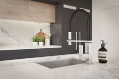Kitchen Visualisation featuring a Benjamin Moore Black Berry colour. Kitchen Ideas New House, New Kitchen, Kitchen 2016, Cottage Kitchens, Grey Kitchens, Modern Kitchen Cabinets, Kitchen Interior, Island Kitchen, Kitchen Decor
