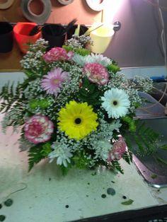Gerbera daisy, carns, mums #cedarhousefng
