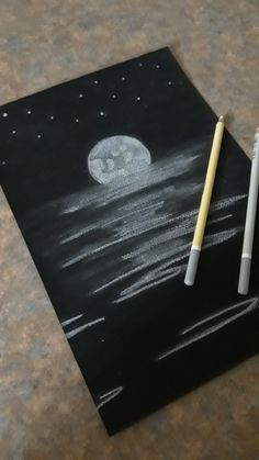 But without the dark we'd never see the stars!!  By me !! #myart #drawing #moon #stars #light
