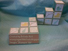 Stampin' Up! Something for Baby - Blocks Cards.