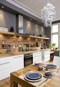 50 Best Kitchen Cabinets Design Ideas To Inspiring Your Kitchen 40 kitchen Best Kitchen Cabinets, Kitchen Cabinet Design, Kitchen Countertops, Interior Design Living Room, Gray Cabinets, Kitchen Flooring, Home Interior, Kitchen Backsplash, Kitchen On A Budget