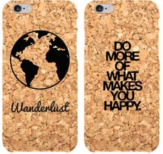 Get that spirit up anywhere you go! Add your favorite quote to your cork phone case and keep on being happy!