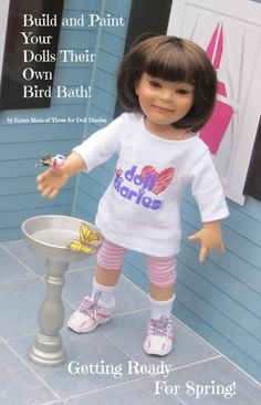 Build and Paint Your Dolls Their Own Bird Bath! - Doll Diaries