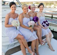lavender brides maid dress