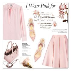 """I wear pink for life!"" by helenevlacho ❤ liked on Polyvore featuring M Missoni, Emilia Wickstead, Coach, contestentry and IWearPinkFor"