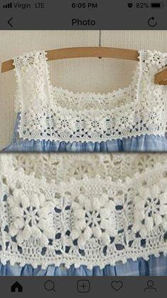 Crochet Collar Pattern, Crochet Yoke, Crochet Girls, Crochet Blouse, Crochet Trim, Filet Crochet, Crochet Stitches, Crochet Baby, Crochet Designs