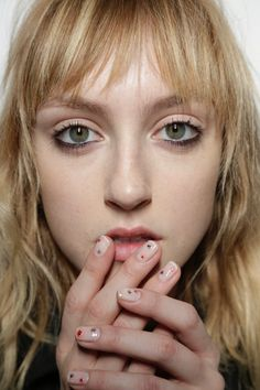 Backstage at the Jenny Packham AW15 Show, nails by Essie http://www.jennypackham.com