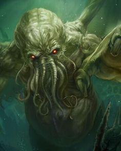 Risultati immagini per cthulhu art pictures Hp Lovecraft, Lovecraft Cthulhu, Art Cthulhu, Cthulhu Tattoo, Call Of Cthulhu, Otto Schmidt, Fantasy Character, Character Design, Dark Art