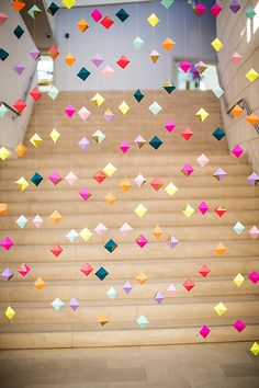 Geometric party garland  #party #garland #colors