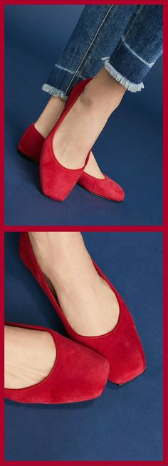 c101a04fb Adorable Bisue Ballerina's Square-Toe Ballet Flats! #shoes #ballet  #ballerina #
