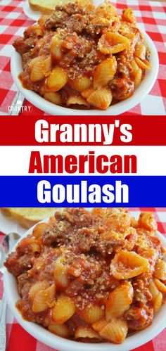 Granny's American Goulash recipe from The Country Cook - no Hungarian paprika in this. This is what Granny threw together and called goulash and I still make it today!