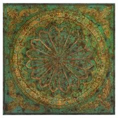 Classically-inspired wall art with a medallion motif in green and gold. Product: Wall art Construction Material: Metal alloy Color: Green and gold Features: Classically-inspired Medallion motif Dimensions: H x W x D Metal Wall Sculpture, Wall Sculptures, Metal Wall Art, Iron Wall Decor, Tuscan Decorating, Decorating Ideas, Cool Walls, Roman Empire, Wall Plaques