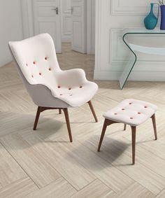 Zuo Cream Antwerp Occasional Chair & Ottoman Set | zulily