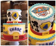 Custom Paw Patrol / Dog Lover Cake by JennyCakesLA on Etsy https://www.etsy.com/listing/561543509/custom-paw-patrol-dog-lover-cake
