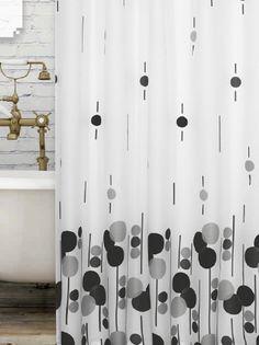 Fehér Cseppmintás zuhanyfüggöny Curtains, Shower, Bathroom, Modern, Prints, Rain Shower Heads, Washroom, Blinds, Trendy Tree