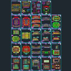 Sport complex : Arena architecture design (Autocad drawings) collection | Architecture for Design