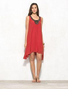 Embroidered Sleeveless Dress | DRESSBAR