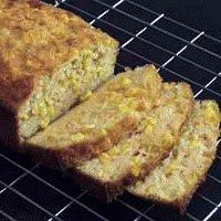 "Easiest cheesy mielie bread.  Also known  in other parts of the world as ""corn bread"", this makes a delicious accompaniment to a braai (barbeque) or even grilled chops and salad.  #cooking #recipes #food #southafrica #mielies #maize #corn"