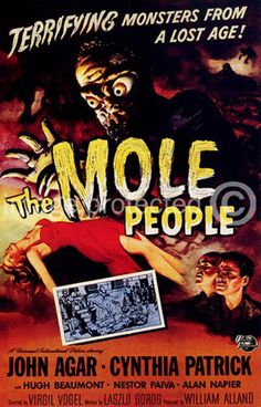 old sci-fi movie posters | Details about The Mole People Vintage Sci Fi Horror Movie Poster