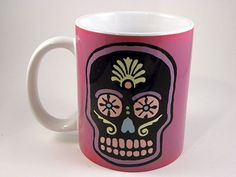 Day of the Dead mug - coffee mug with vintage image ceramic