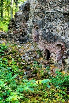 Old Castle Ruins Placed At Forest Stock Photo, Picture And Royalty Free Image. Old Abandoned Buildings, Old Buildings, Abandoned Places, Castle Ruins, Castle House, Desert Places, Beautiful Ruins, Beautiful Architecture, Oregon