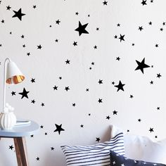Scattered Stars Wall Decal - perfect on a white wall but without any commitment!