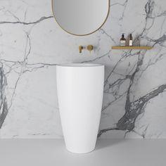 Stone Basins, Luxury Bathroom Basins by Lusso Stone Rustic Bathroom Designs, Modern Bathroom Design, Bathroom Interior Design, Marble Tile Bathroom, Bathroom Basin, Modern Pedestal Sink, Stone Basin, Shower Panels, Wet Rooms