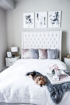 Look Over This Tiffany Jais Houston fashion and lifestyle blogger sharing her updated bedroom space with Minted, click to read more | Minted art prints, interiors, home decor The post Tiffany Jais H ..