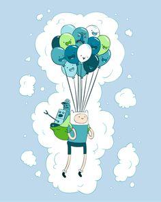 globos Hora de Aventuras.