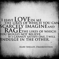 frankenstein love quotes