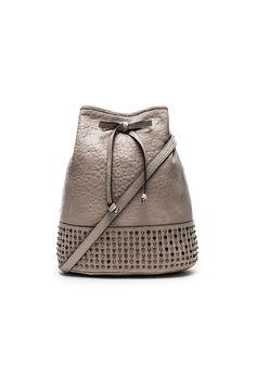 she + lo Livin The Dream Shoulder Bag in Cool Grey