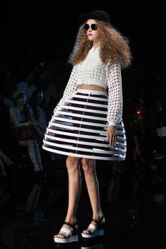 Blossomlink by Yuka Ohishi Kate Lanphear, Waist Skirt, High Waisted Skirt, Runway, Skirts, Style, Fashion, Cat Walk, Moda