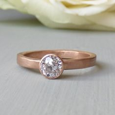 Rose Ethical Engagement Ring in 18ct Fairtrade Gold