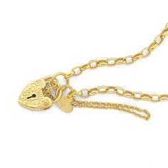 9ct Gold 19cm Belcher Padlock Bracelet