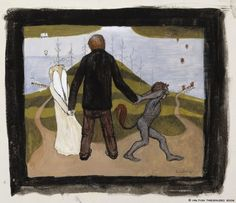 Untitled by Hugo Simberg on Curiator, the world's biggest collaborative art collection. The Crossroads, Canvas Prints, Framed Prints, Collaborative Art, Vintage Artwork, Arte Pop, Poster Size Prints, Les Oeuvres, Photo Greeting Cards