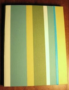 Diario con mosaico de tela y elástico. Curtains, Home Decor, Tela, Diaries, Mosaics, Report Cards, Projects, Blinds, Interior Design