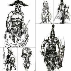 Arm Tattoo, Body Art Tattoos, Sleeve Tattoos, 3d Tattoos, Bone Tattoos, Tiny Tattoo, Tattoo Drawings, Sparta Tattoo, Shoulder Armor Tattoo