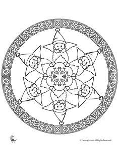 Christmas Mandala Coloring Pages santa-christmas-mandala-col – Fantasy Jr.