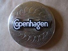 Copenhage Crown Silver Silverplate Western Snuff Chewing Tobacco Box Cover Lid | eBay