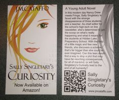 New Promo Cards! Please share!  Check out my friend Johnny Cataffo's new novel.